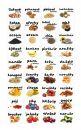 Samolepky na kořenky - ovoce, ořechy a semena